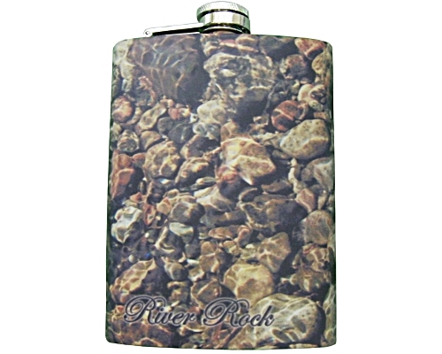 Stainless Steel Hip Flask - River Rock