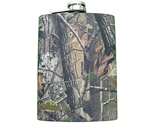 Stainless Steel Hip Flask - Elk Camp Camo
