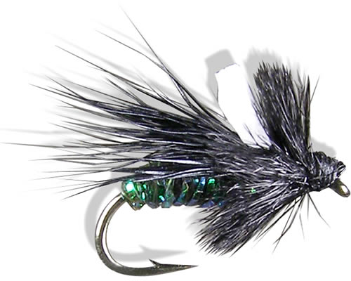 Wilson's Midnight Caddis- Black<br>#18