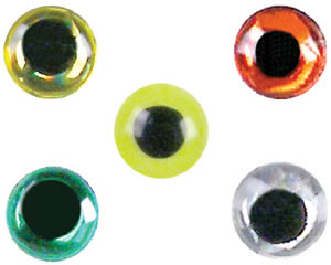 3D Eyes - Gold - Sizes 2.5 - 8.0 mm