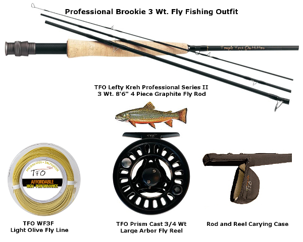 TFO Brook Trout 3 Wt. Fly Fishing Outfit