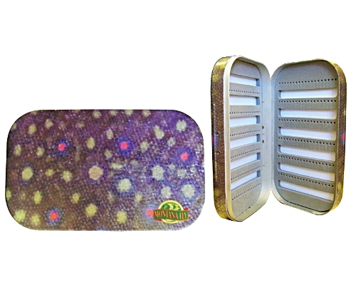 River Camo Aluminum Fly Box - Brook Trout Pattern