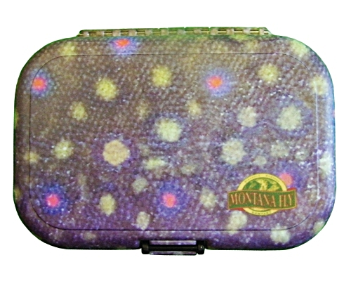 River Camo Plastic Fly Box - Brook Trout