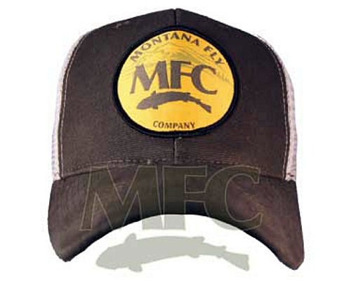 MFC Logo Trucker Hat <br>Mtn Logo Patch - Dark Brown