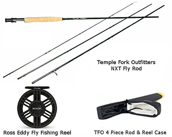 TFO NXT 4/5 Fly Rod & Ross Eddy 5/6 Fly Reel Combo with Rod Case