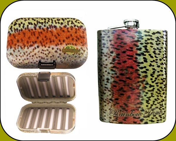 Poly Fly Box and Flask - Rainbow