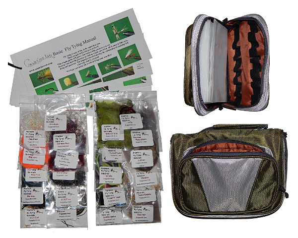 Trout Fly Tying Material Kit with Essentials Tying Materials Bag