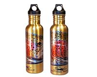 "Stainless Steel Water Bottle - Sundell's ""Rainbow Warrior"""