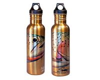 "Stainless Steel Water Bottle - Sundell's ""Wild Cutthroat"""