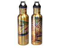 "Stainless Steel Water Bottle - Sundell's ""Yellow Thunder"""