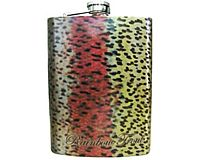 Stainless Steel Hip Flask - Rainbow Trout (Metallic)