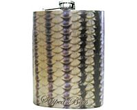 Stainless Steel Hip Flask - Striped Bass