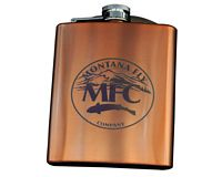 Stainless Steel Hip Flask - Copper w/ MFC Logo