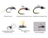 Goodale's Midge Emergers/Dries Fly Assortment - Size 20 - 6 Piece