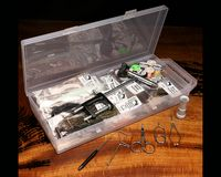 Hareline Fly Tying Material Kit with Economy Tools and Vise