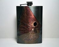 Stainless Steel Hip Flask - Redfish Tail