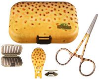 River Camo Brown Trout Kit - 3 Piece (Plastic Fly Box)