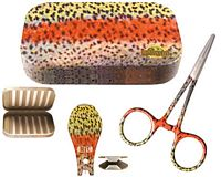 River Camo Rainbow Trout Kit - 3 Piece (Aluminum Fly Box)
