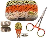 River Camo Rainbow Trout Kit - 3 Piece (Plastic Fly Box)