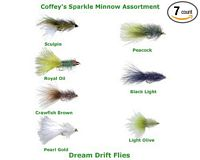 Coffey's Sparkle Minnow Streamer Assortment - 7 Flies