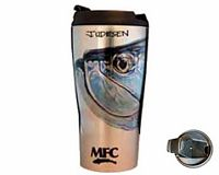 "Vacuum Travel Mug - Udesen's ""Tarpon Head (Over Silver)"""