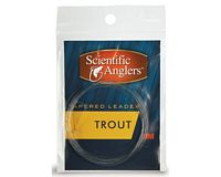 Freshwater Nylon Tapered Leaders with loop - 7.5'  Trout 4x